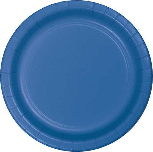 True Blue Paper Luncheon Plates - 900 Count