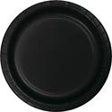 Black Paper Luncheon Plates - Bulk