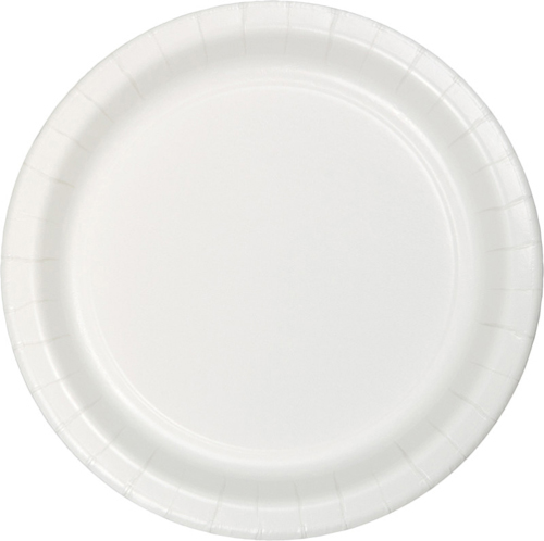White Paper Luncheon Plates - Bulk