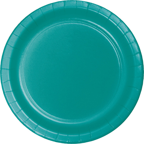 Tropical Teal Paper Dinner Plates