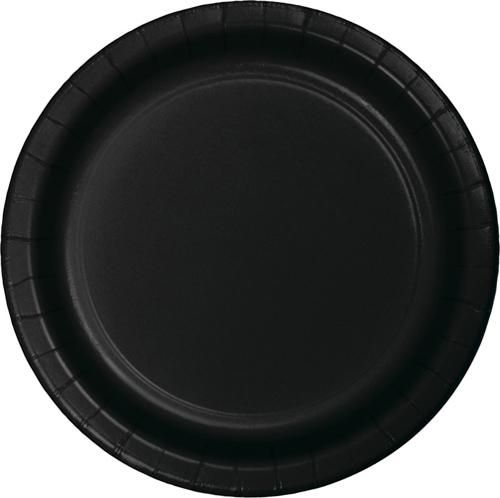 Black Paper Dinner Plates - Bulk