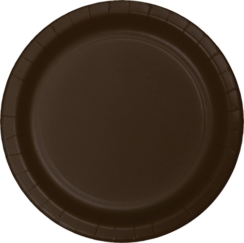 Chocolate Brown Paper Dinner Plates
