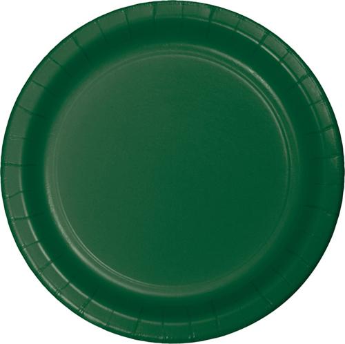 Hunter Green Paper Dinner Plates