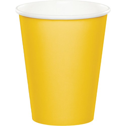 School Bus Yellow Paper Beverage Cups