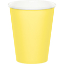 Mimosa Yellow Paper Beverage Cups