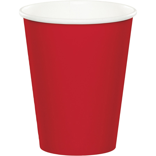 Classic Red Paper Beverage Cups