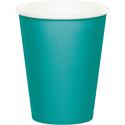 Teal Paper Beverage Cups