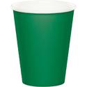 Emerald Green Paper Beverage Cups