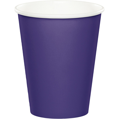 Purple Paper Beverage Cups
