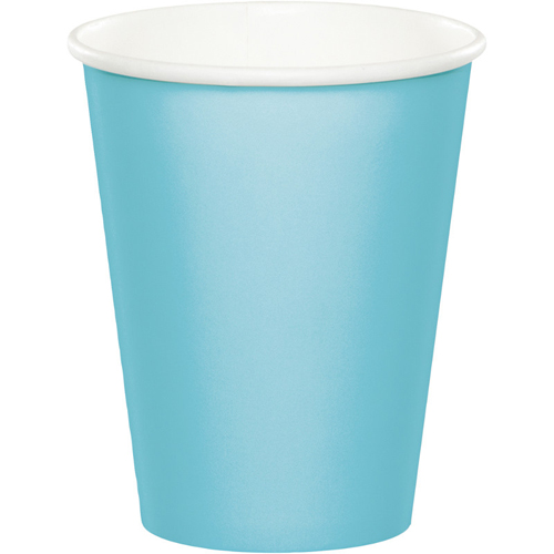 Pastel Blue Paper Beverage Cups