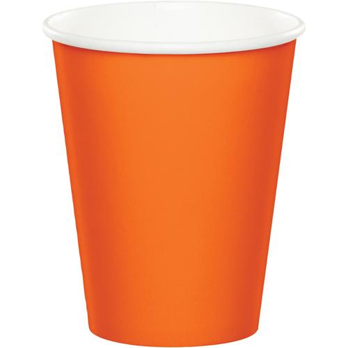 Sunkissed Orange Paper Beverage Cups