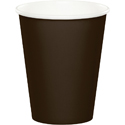 Chocolate Brown Paper Beverage Cups