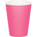 Candy Pink Paper Beverage Cups