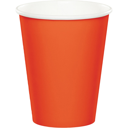 Bittersweet Orange Paper Beverage Cups