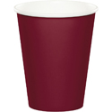 Burgundy Paper Beverage Cups