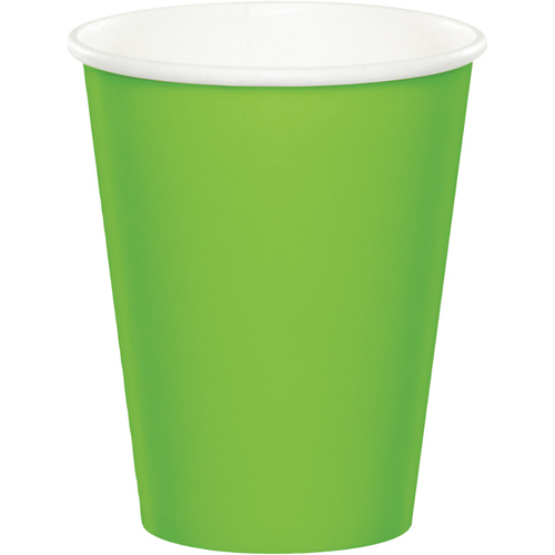 Lime Green Paper Beverage Cups