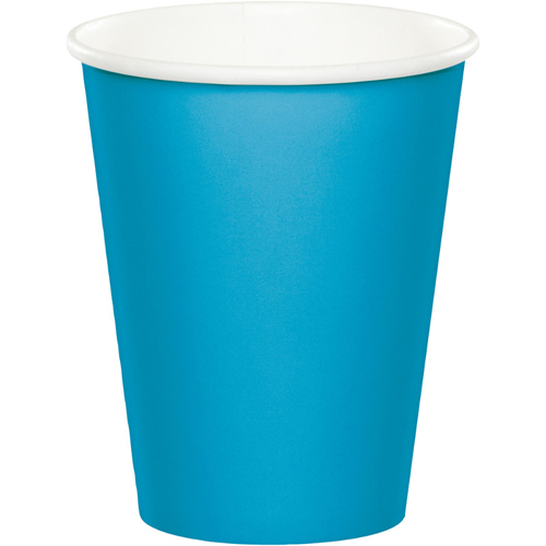 Turquoise Paper Beverage Cups