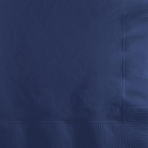 Navy Blue Beverage Napkins - 500 Count