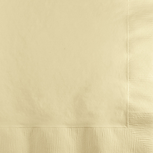 Ivory Beverage Napkins - 500 Count