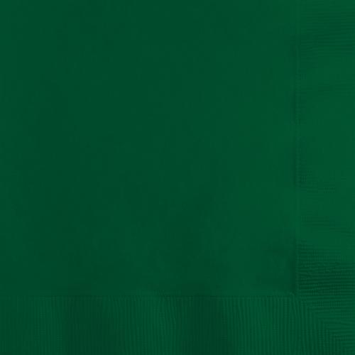 Hunter Green Beverage Napkins - 500 Count