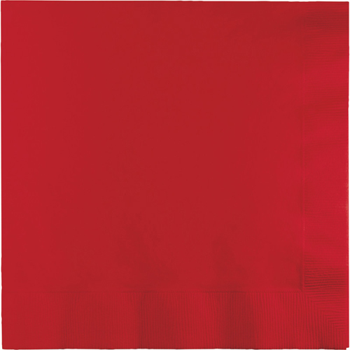 Classic Red Luncheon Napkins - 500 Count