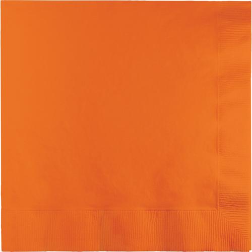 Sunkissed Orange Luncheon Napkins - 500 Count