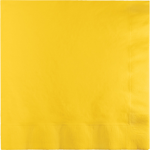 School Bus Yellow Dinner Napkins - 250 Count