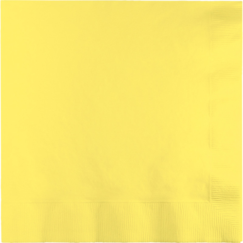 Mimosa Yellow Dinner Napkins - 250 Count