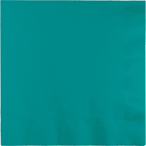 Tropical Teal Dinner Napkins - 250 Count