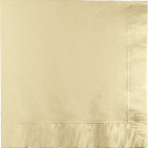Ivory Dinner Napkins  - 250 Count