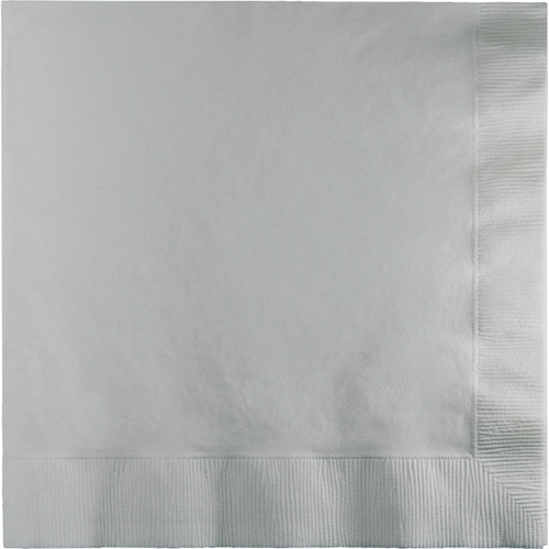 Silver Dinner Napkins - 250 Count