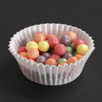 White Fluted Bake Cups - 4 Inches
