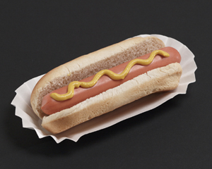 Paper Hot Dog Trays - Fluted 6 Inch Mediumweight