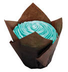 Chocolate Brown Large Tulip Baking Cups - 1,000