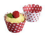Cupcake Wrappers - Red and White Polka Dots