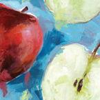 Summer Fruits Beverage Napkins - Apples