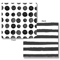 Black Licorice Dots & Stripes Beverage Napkins