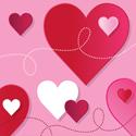 Loving Hearts Beverage Napkins