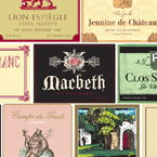 Wine Themed Beverage Napkins - Wine Labels