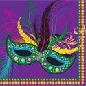 Mask of Mardi Gras Beverage Napkins
