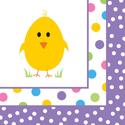 Easter  Chick Beverage Napkins
