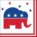 Republican Party Beverage Napkins