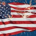 4th of July Fireworks Beverage Napkins