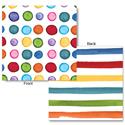 Multicolored Dots & Stripes Beverage Napkins