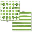 Verdi Green Dots & Stripes Beverage Napkins