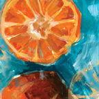Summer Fruits Beverage Napkins - Oranges