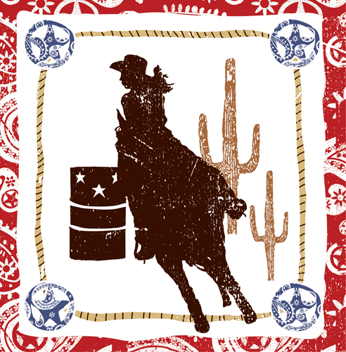 Cowboy Themed Luncheon Napkins - Rodeo Girl