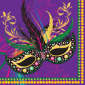 Mask of Mardi Gras Paper Luncheon Napkins