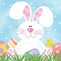 Easter Bunny Paper Luncheon Napkins