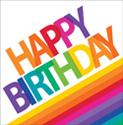 Rainbow Happy Birthday Luncheon Napkins